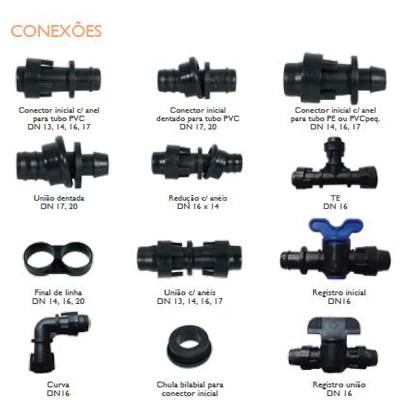 Conectores para sistemas de irrigação